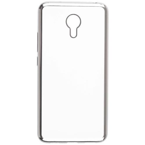 Накладка силиконовая skinBox chrome Meizu M3 Note Silver