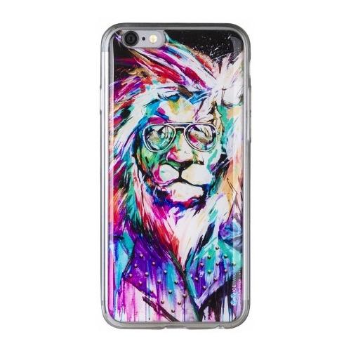 Накладка силиконовая IceTwice iPhone 6/6S Лев Хипстер №840