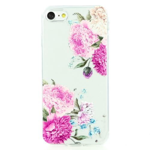 Накладка силиконовая BoraSCO ArtWorks iPhone 7/8 Розовые пионы