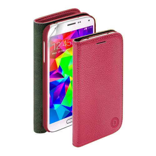 Чехол-книжка для Samsung I9500 Galaxy S4 Wallet Cover и защитная пленка, Deppa, красный
