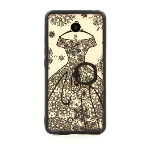Накладка пластиковая Goodcase Meizu M3 Note свадебное платье черное