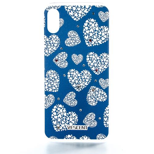 Накладка пластиковая Vescent iPhone X White Hearts