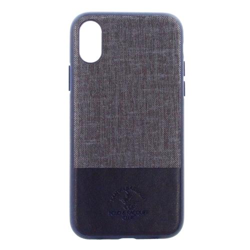 Накладка кожаная Polo Virtuoso для iPhone X Blue