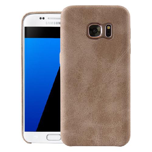 Накладка кожаная Uniq Outfitter Samsung Galaxy S7 Edge Beige