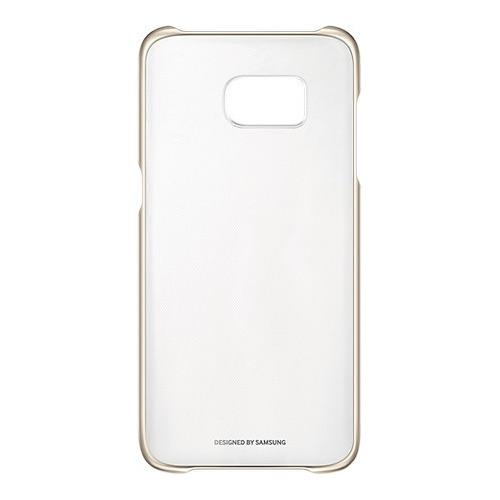 Накладка пластиковая Samsung Clear Galaxy S7 Edge EF-QG935CFEGRU Gold
