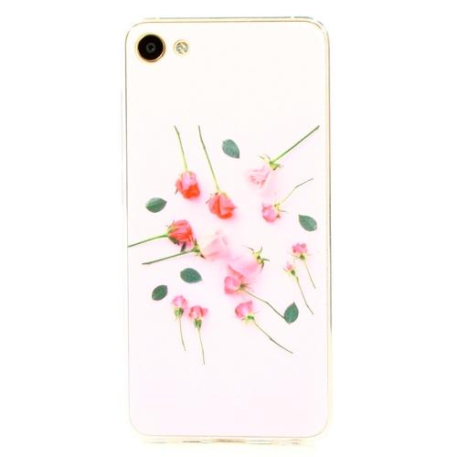 Накладка силиконовая Goodcase Meizu U10 Розы