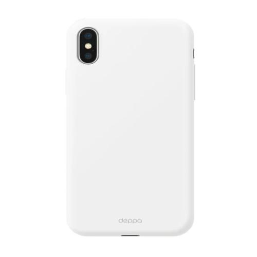 Накладка силиконовая Deppa Gel Color Case iPhone X/XS White фото