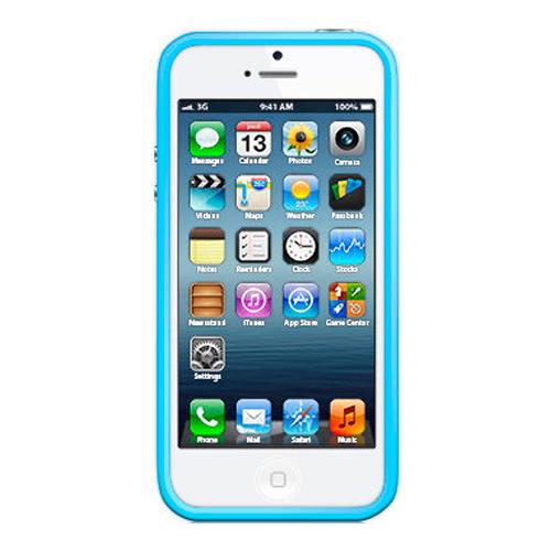 Бампер Muvit iPhone 5/5S/SE Belt + защитная плёнка Blue