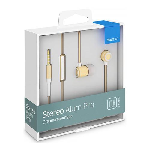 Гарнитура Deppa Stereo Alum Pro Gold