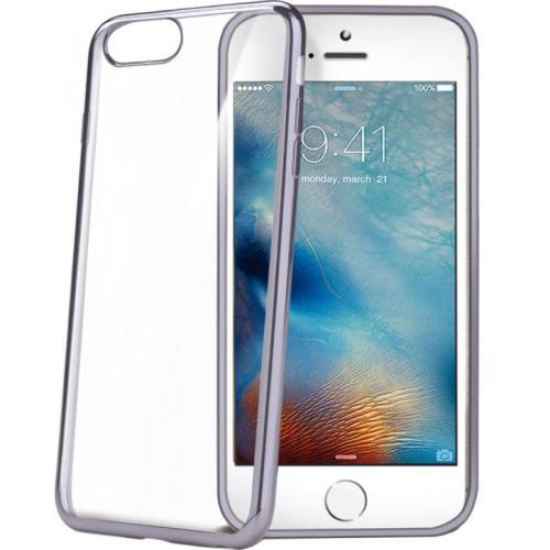 Накладка силиконовая Celly Laser iPhone 7 Plus Grey