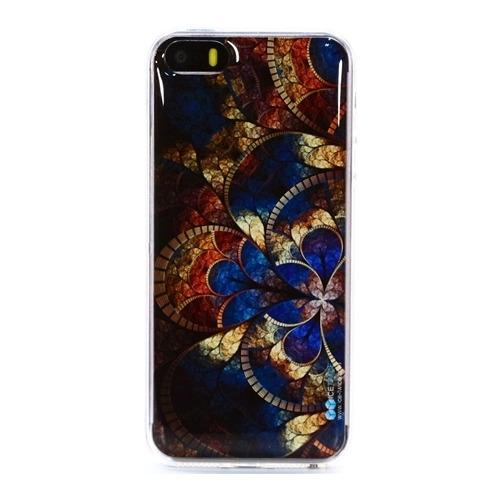 Накладка силиконовая IceTwice iPhone 5/5S Мозаика №637