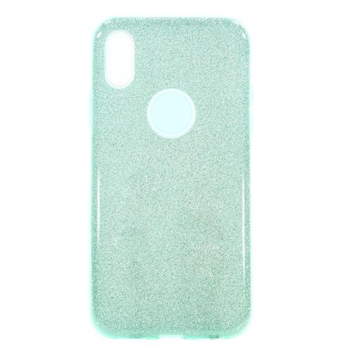 Накладка силиконовая Fashion Case Iphone X Shining 2 in 1 Green