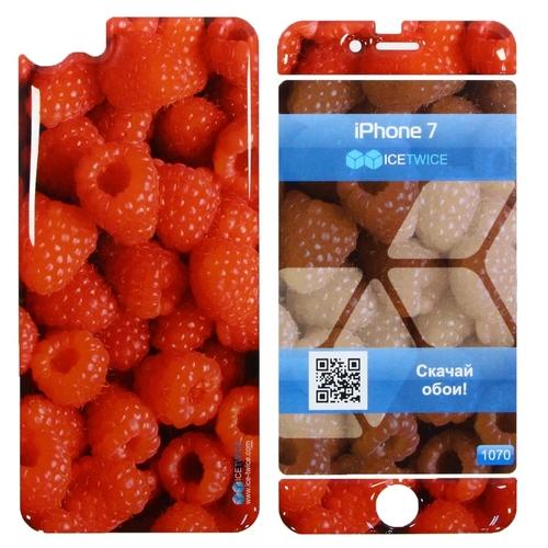 Наклейка силиконовая IceTwice iPhone 7 / iPhone 8 Малина №1070