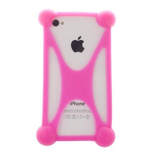 """Бампер Partner силиконовый универсальный 3.5-5.5"""" Pink"""