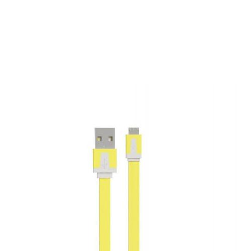 USB кабель Vertex microUSB плоский 1m Yellow