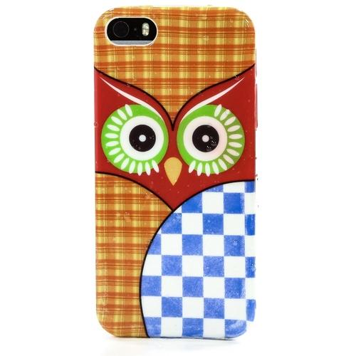 Накладка силиконовая iPhone 5/5S Сова (SDST)