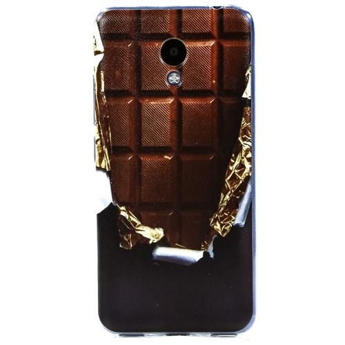 Накладка силиконовая Goodcase Meizu M5C Шоколад