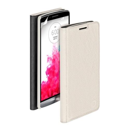Чехол-книжка для LG G3, Deppa Wallet Cover белый и защитная пленка