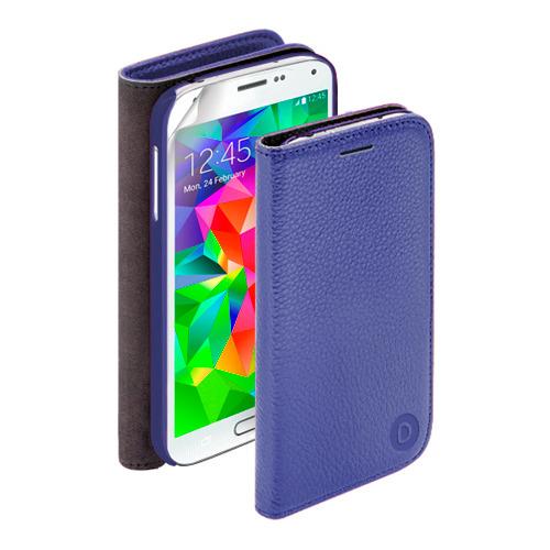 Чехол - книжка Deppa Wallet Cover и защитная пленка Samsung I9500 Galaxy S4 Blue