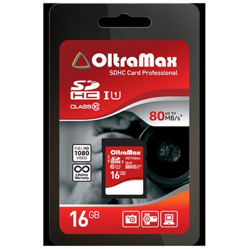 Карта памяти на 16 Гб OltraMax microSD (class 10)