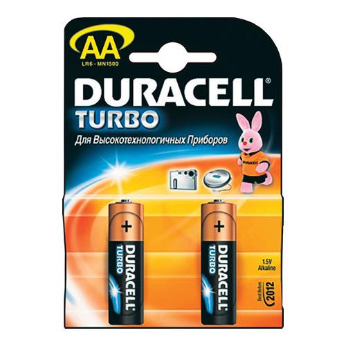 Батарея Duracell LR6 AA Turbo (блистер 2шт.)