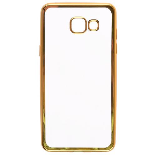 Накладка силиконовая skinBox chrome Samsung Galaxy A5 (2016) Gold