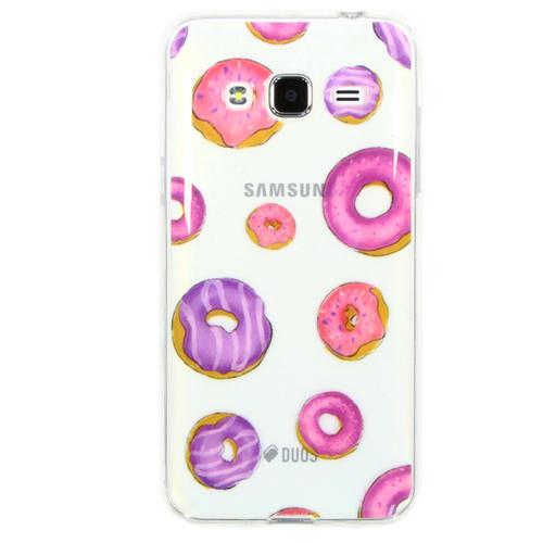 Накладка силиконовая Goodcase Samsung J3 (2016) Пончики