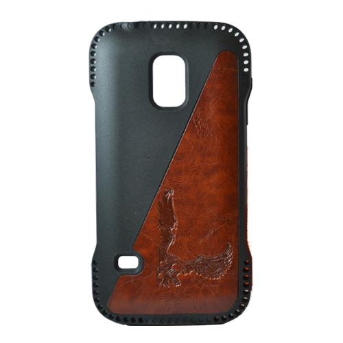 Накладка пластиковая Samsung G900 Galaxy S5 Орёл Brown
