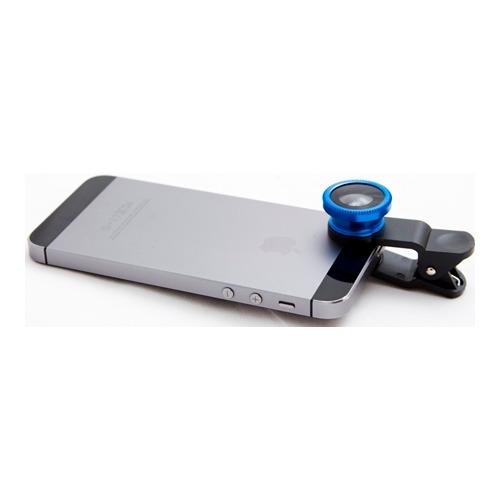 Объектив для телефона FishEye-01 + Macro 180` Blue фото 2
