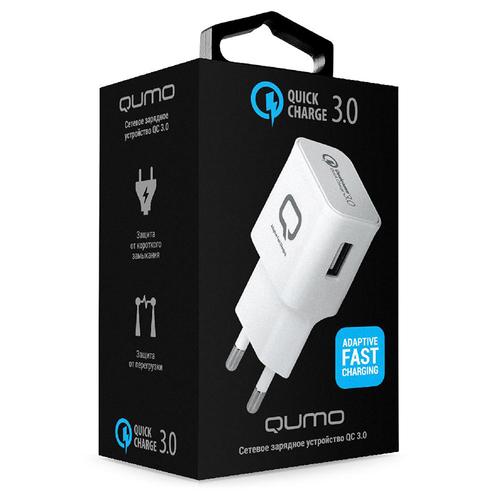 Сетевое зарядное устройство Qumo Dual Quick Charge 3.0 1USB 2A