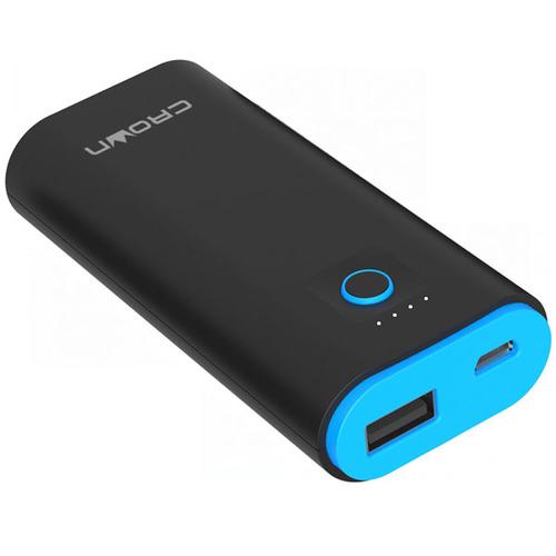 Внешний аккумулятор CROWN CMPB-06 5000 mAh Black/Blue фото 4