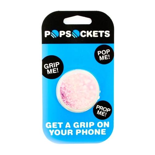 Держатель Goodcom для смартфонов PopSocket Розовые блестки