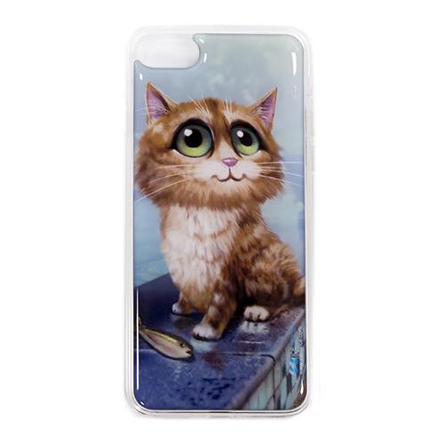 Накладка силиконовая IceTwice iPhone 7 / iPhone 8 Котик №1003
