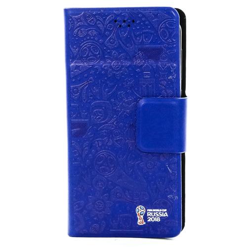 """Чехол-книжка Deppa Wallet M универсальный (4.3""""-5.5"""") FIFA Official Pattern Blue"""