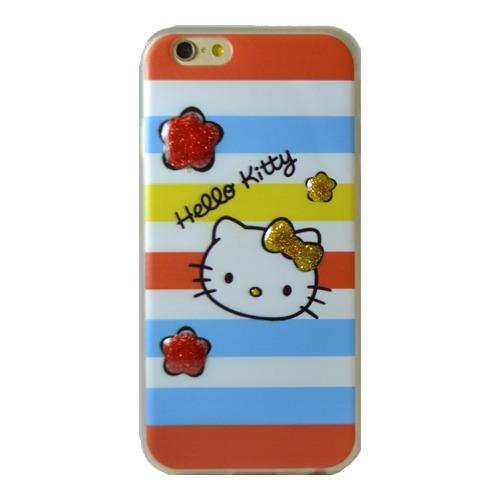 Накладка силиконовая iPhone 5/5S/SE Hello Kitty (DJ)