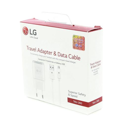 СЗУ LG TAU-300 1USB + кабель microUSB 1.8A White
