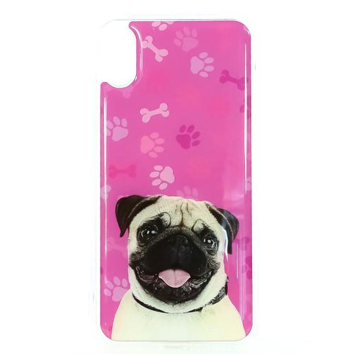 Накладка силиконовая IceTwice iPhone X Мопс №1202
