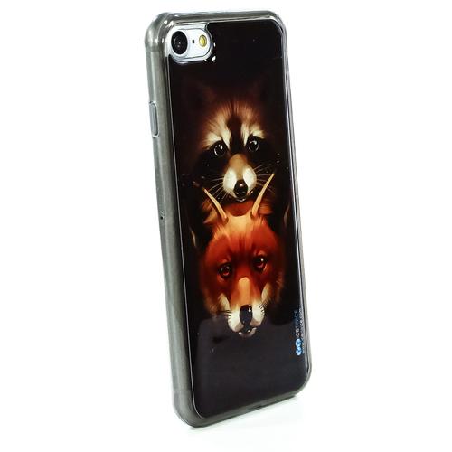 Накладка силиконовая IceTwice iPhone 7/8 Енот и Лиса №989